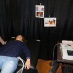 Photo of Andrine Larsen getting an EKG Screening