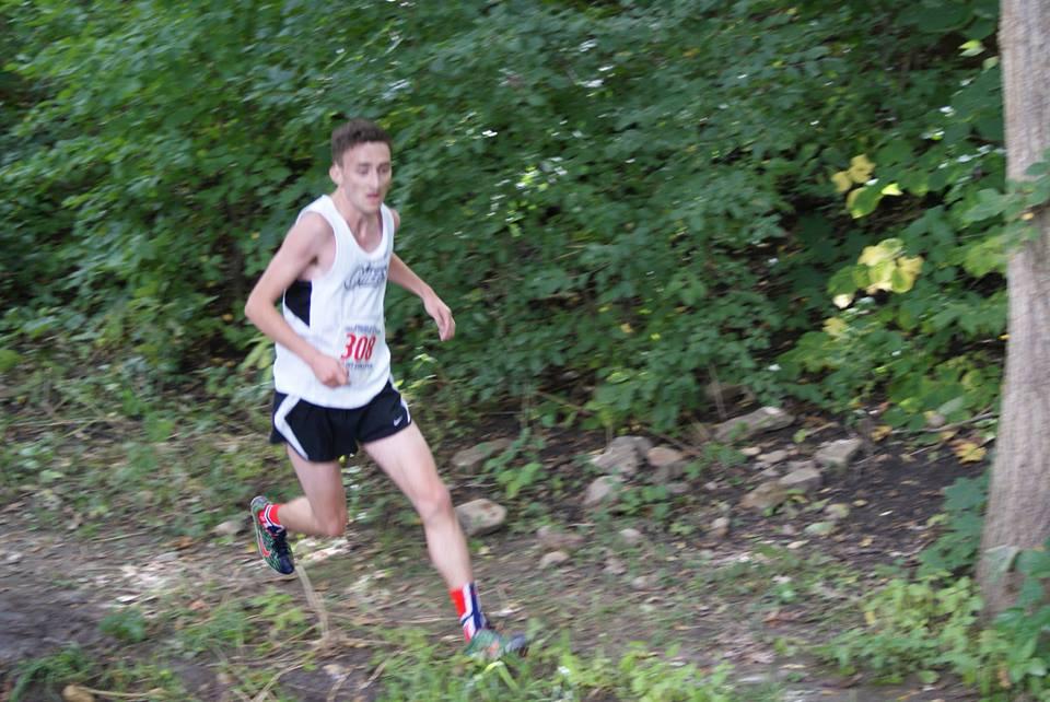 Kristoffer Larsen Running on a trail