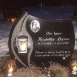 Kristoffer Larsen's grave stone at Trondeness