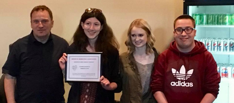 NIU-AMA-Positivity-Award-Stephanie-Hand-04272018